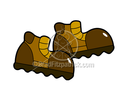 Cartoon boots picture royalty. Boot clipart hiking