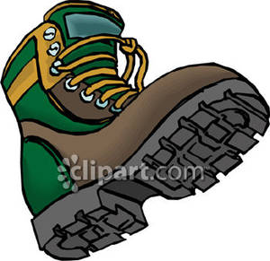 Boot clipart hiking. A green and brown