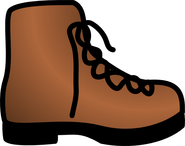 Simple brown clip art. Boot clipart hiking