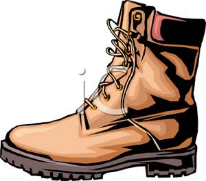 Boot clipart hiking. Realistic royalty free picture