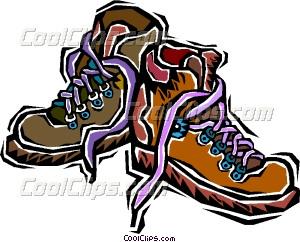 Boots vector clip art. Boot clipart hiking