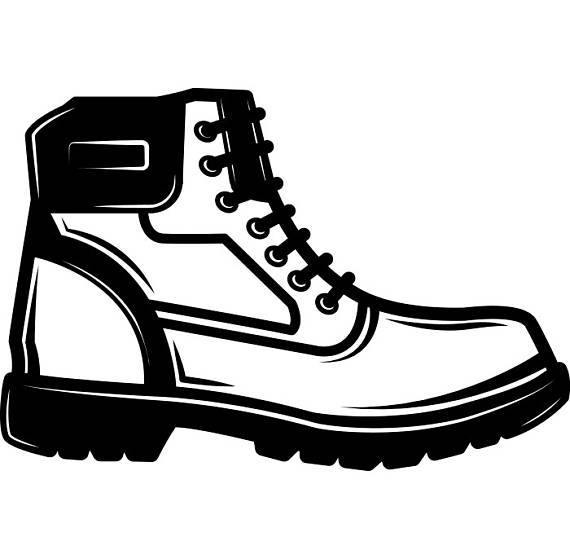 Boot clipart hiking. Leather shoe footwear hike