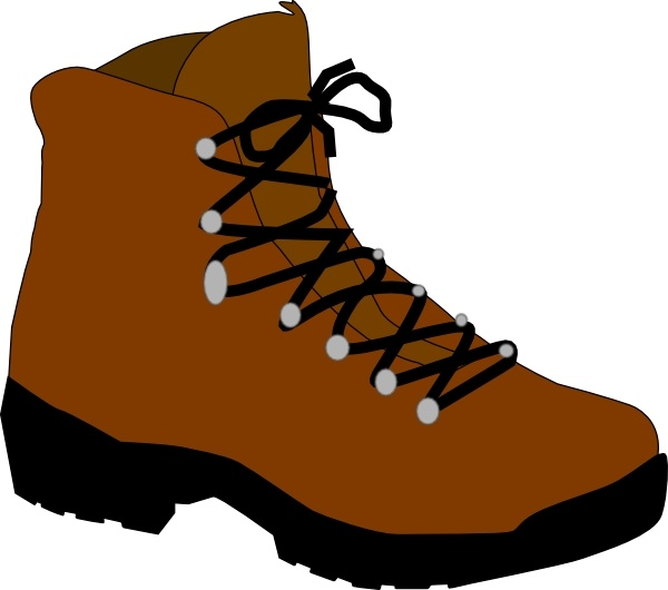 File hiking clip art. Boots clipart brown boot