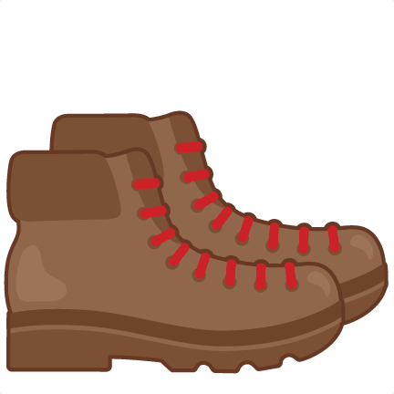 Hike clipart boot. Hiking boots svg miss