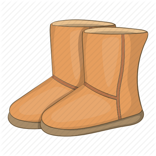 Snow background cartoon furniture. Boots clipart illustration
