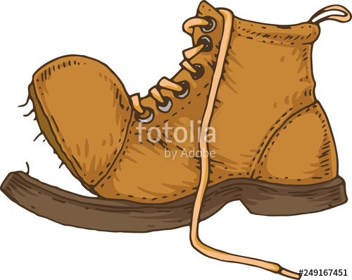 Boot clipart old boot. Brown stock image and