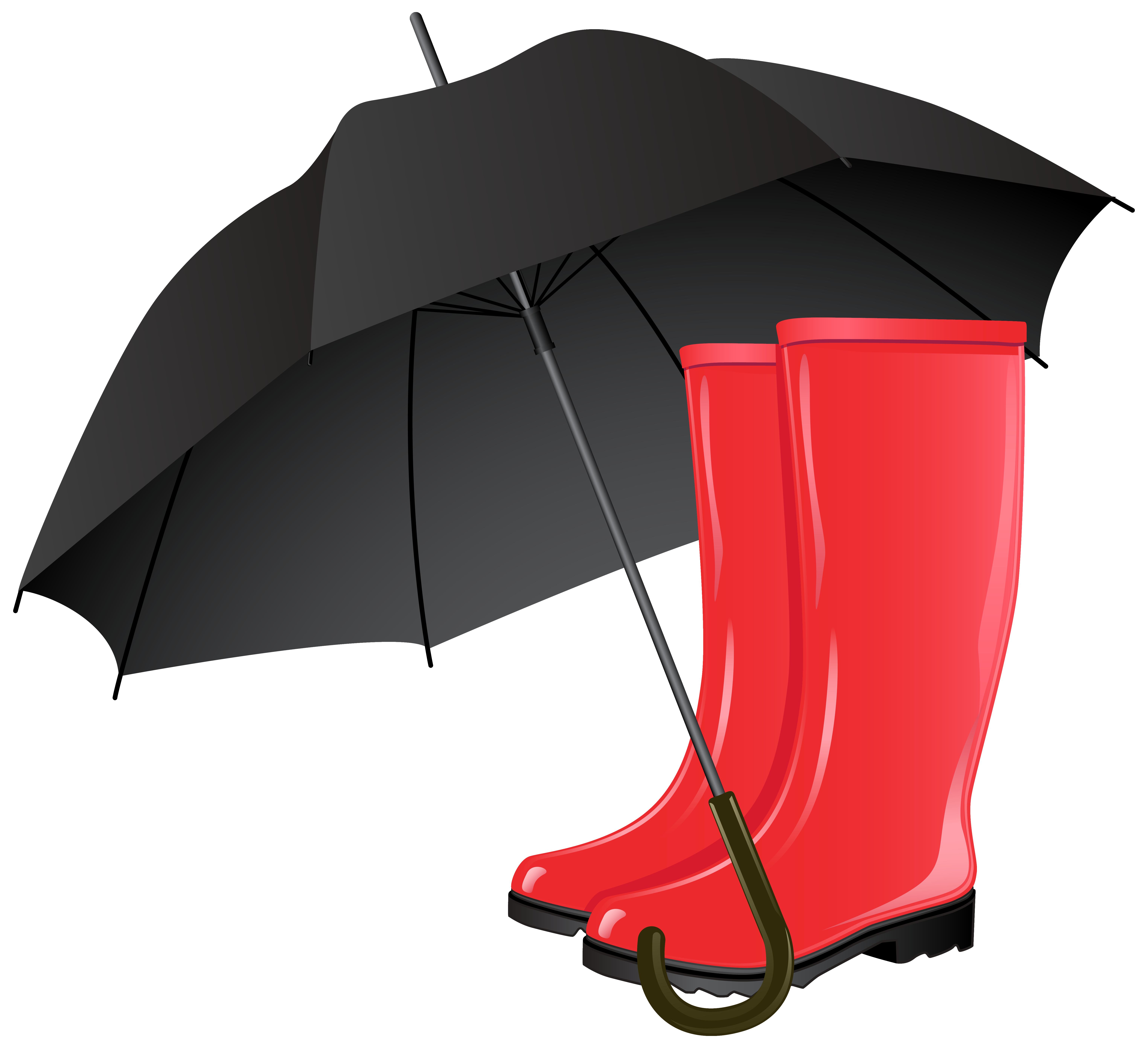 Rubber boots and png. Clipart umbrella autumn