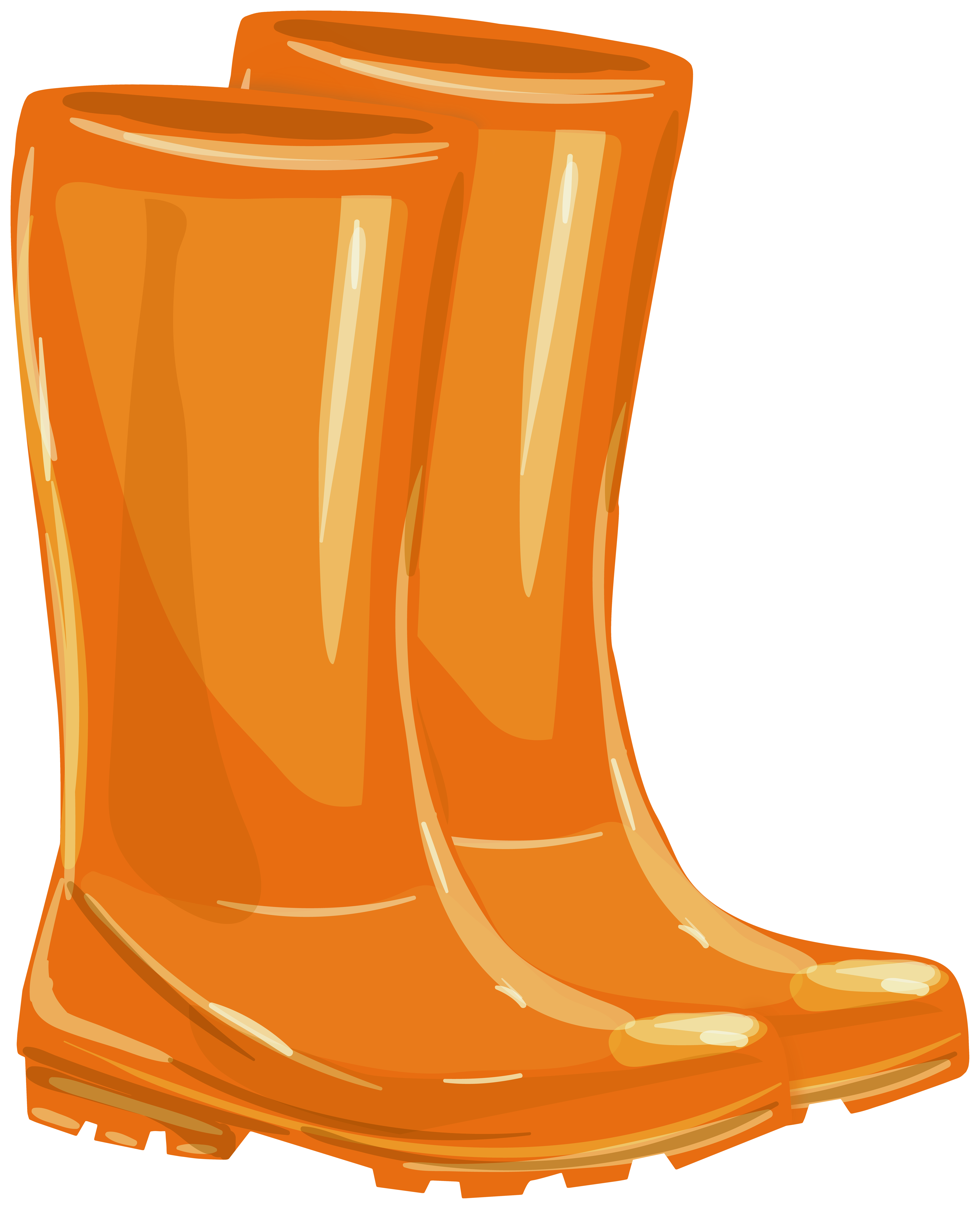 Boot clipart rubber boot. Orange boots png gallery