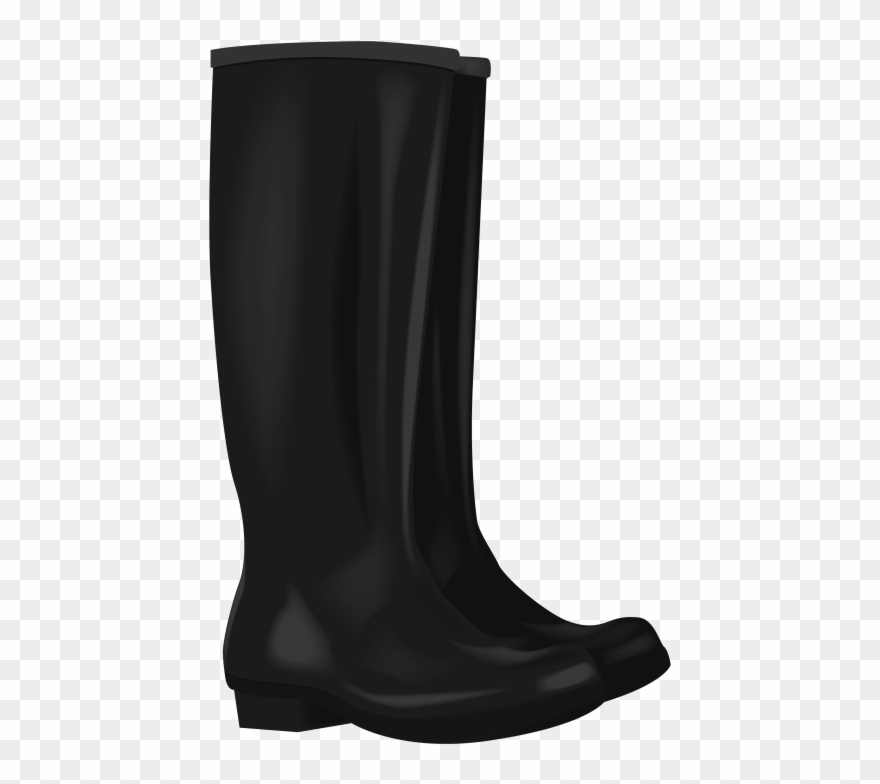 Download black boots png. Boot clipart rubber boot