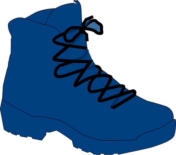 hike clipart brown boot