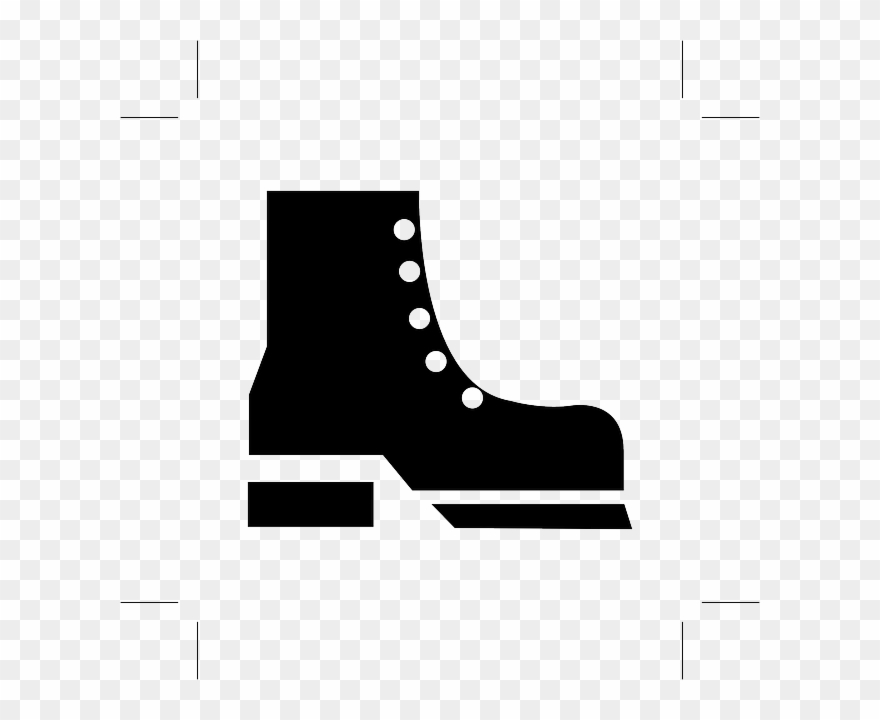 No shoes pictogram png. Boots clipart safety boot
