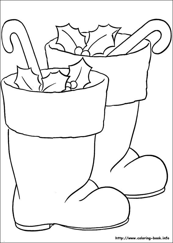 Boot clipart santa claus. Coloring pages for christmas
