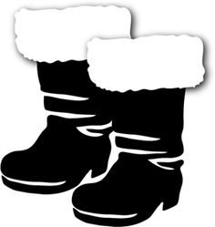 collection of black. Boots clipart santa claus