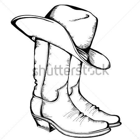 Boot clipart sketch. Cowboy clip art botas