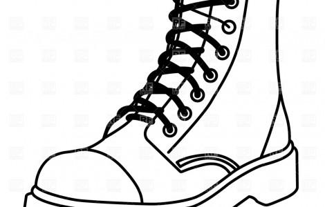 Combat clip art panda. Boot clipart sketch
