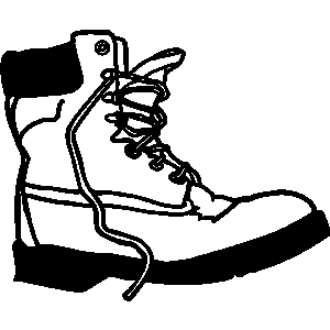 Boot clipart sketch. Combat boots free download