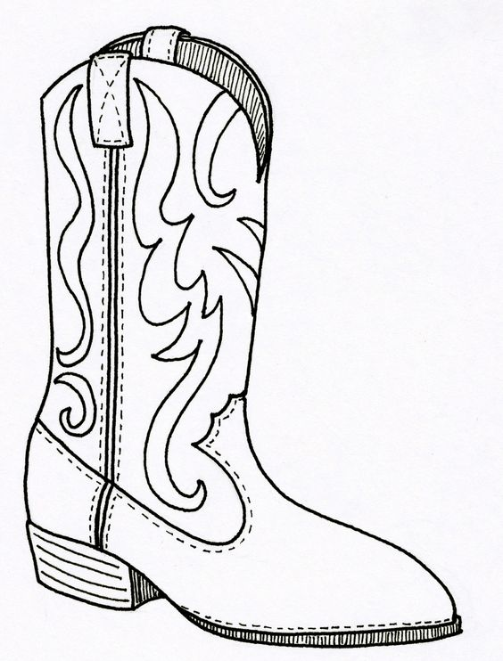 Cowgirl outline clipground cowboy. Boot clipart sketch