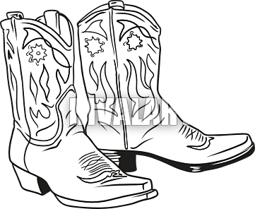 Cowboy boots images about. Boot clipart sketch