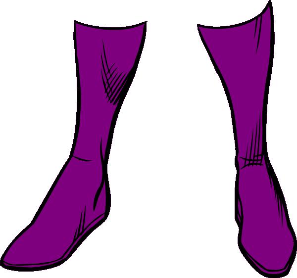 Boots clip art at. Purple clipart super hero