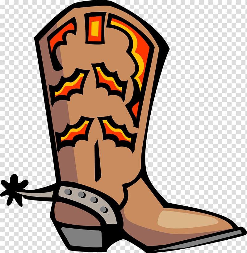 Cowboy shoe . Boot clipart transparent background