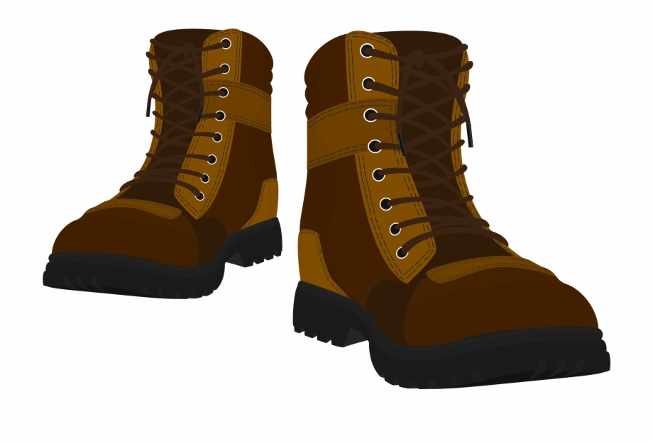 Boots clipart brown boot. Male png transparent background