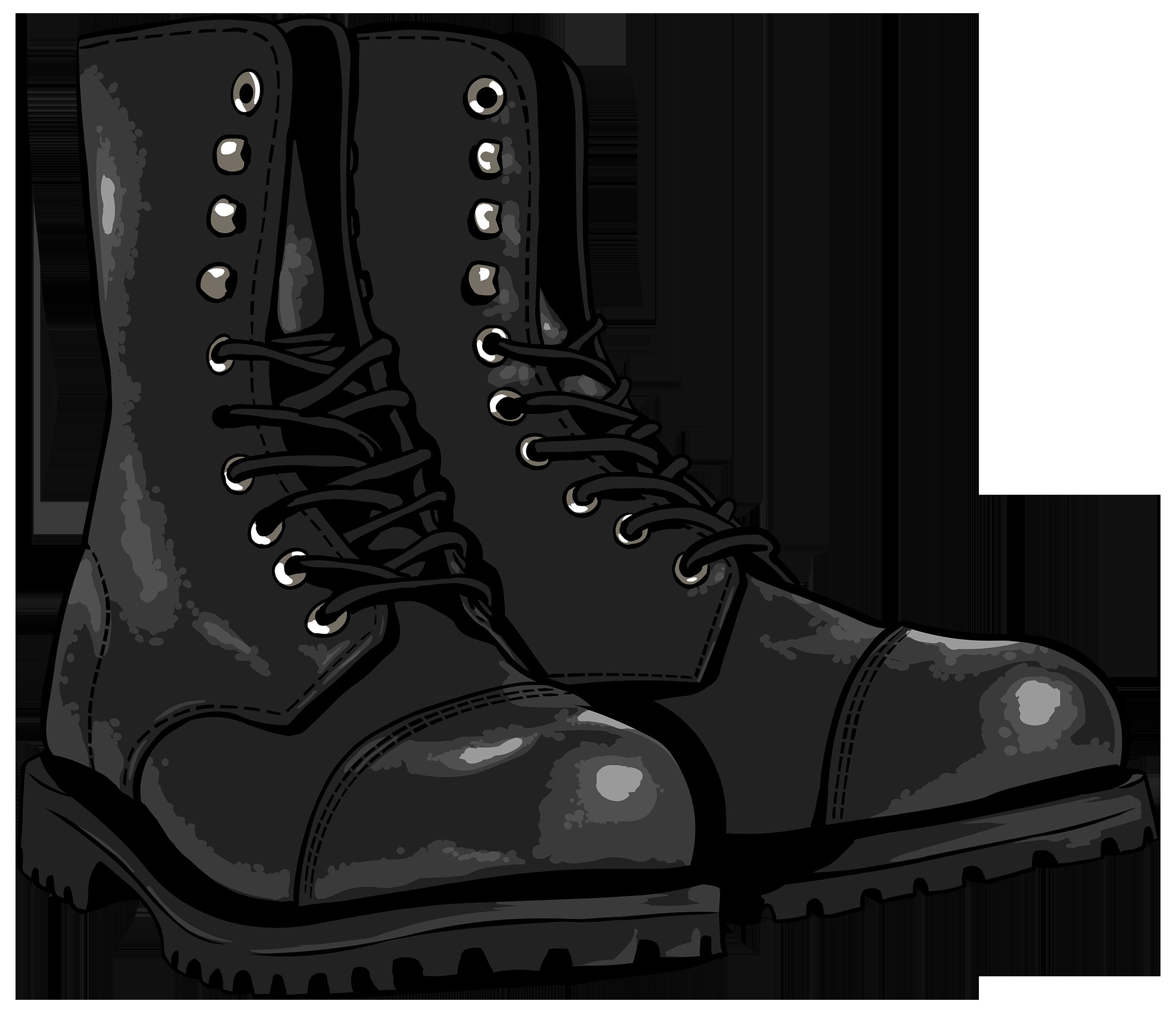 Wet clipart wet shoe. Black boots png image