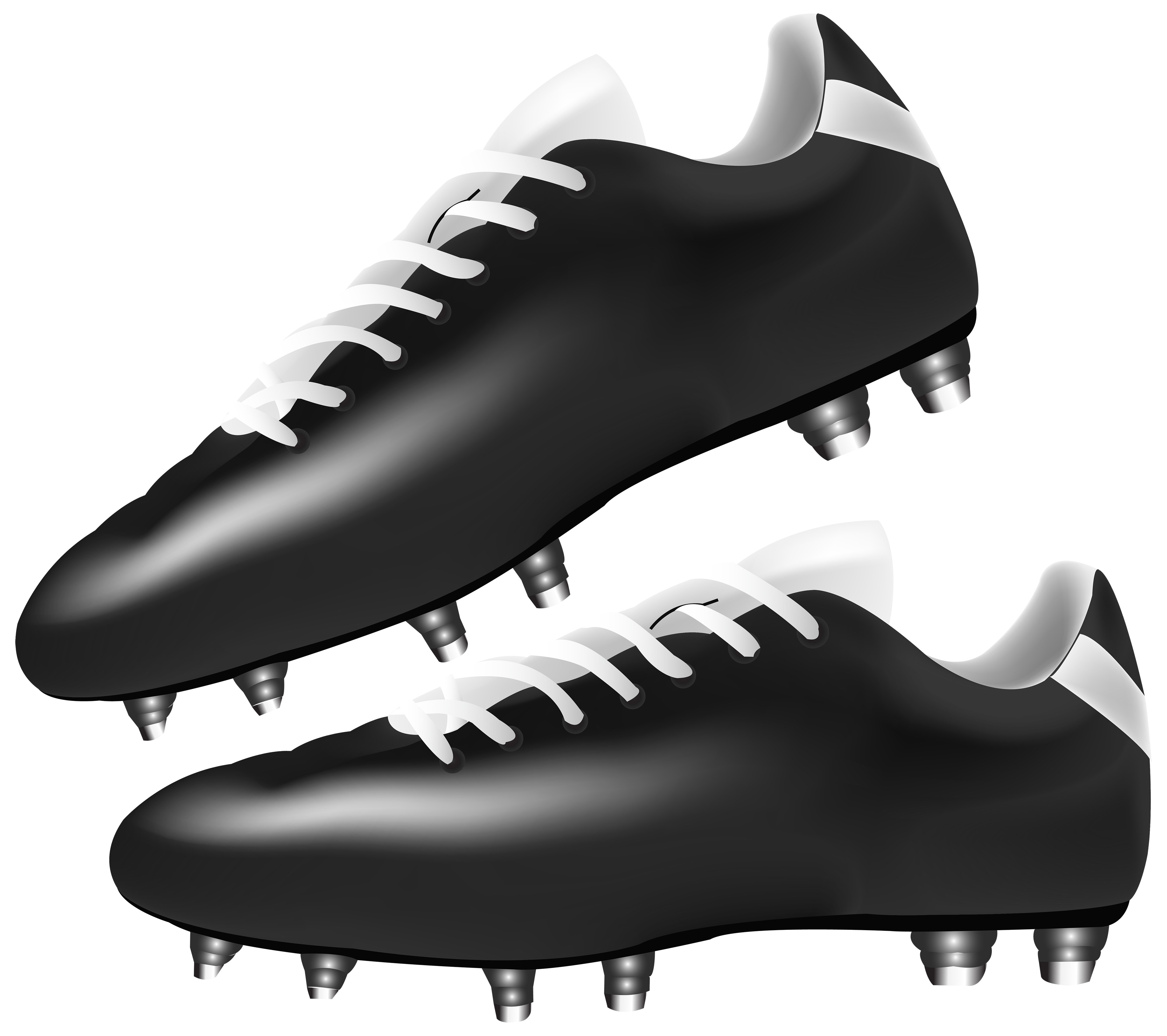 Black football boots png. Winter clipart boot