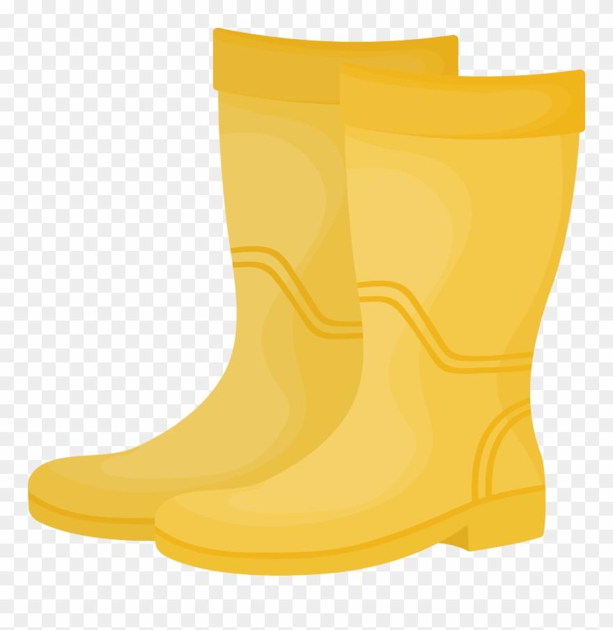 Boot clipart wellington boot. Yellow pinclipart