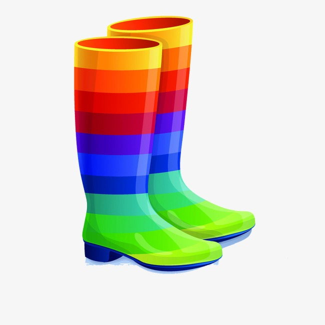 Colored boots wellies child. Boot clipart welly boot