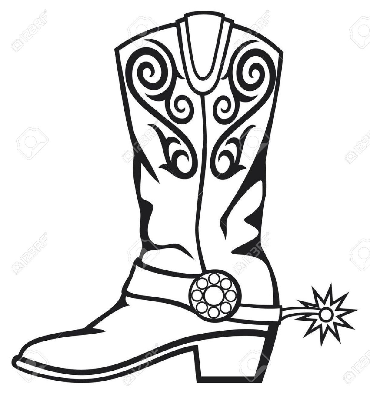 Cowboy clipart cowboy boot. Western drawing at getdrawings