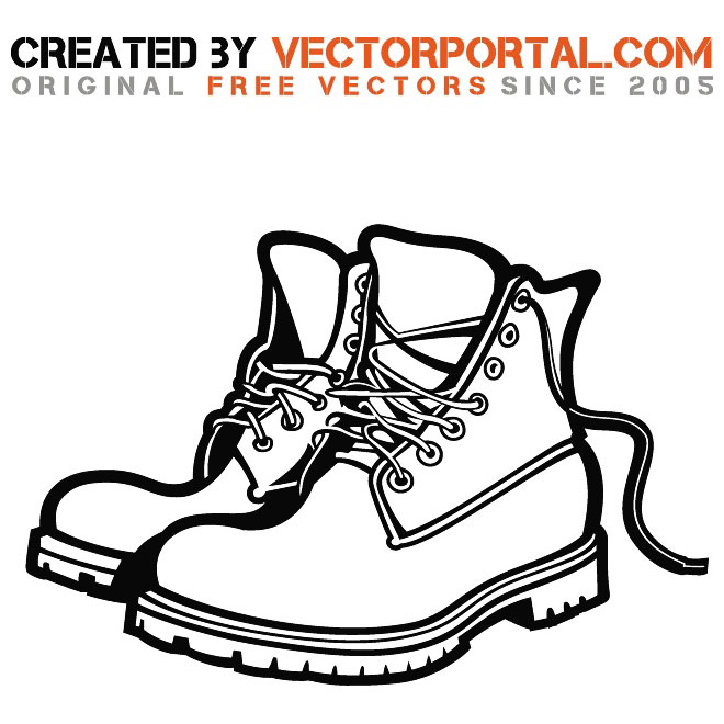 Boots clip art library. Boot clipart work boot