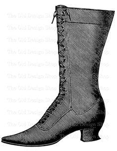 Boot clipart work boot. Victorian boots clip art