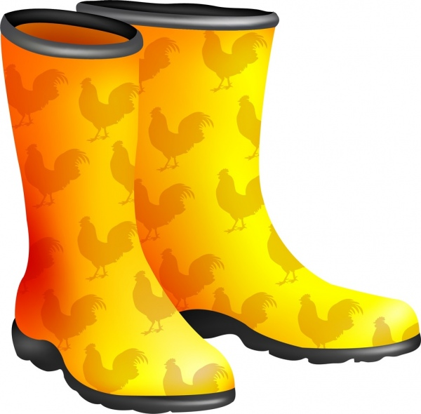 Boot clipart yellow boot. Boots icon vignette repeating