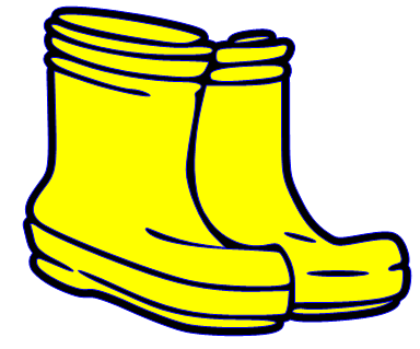 Yellow Boots Clipart