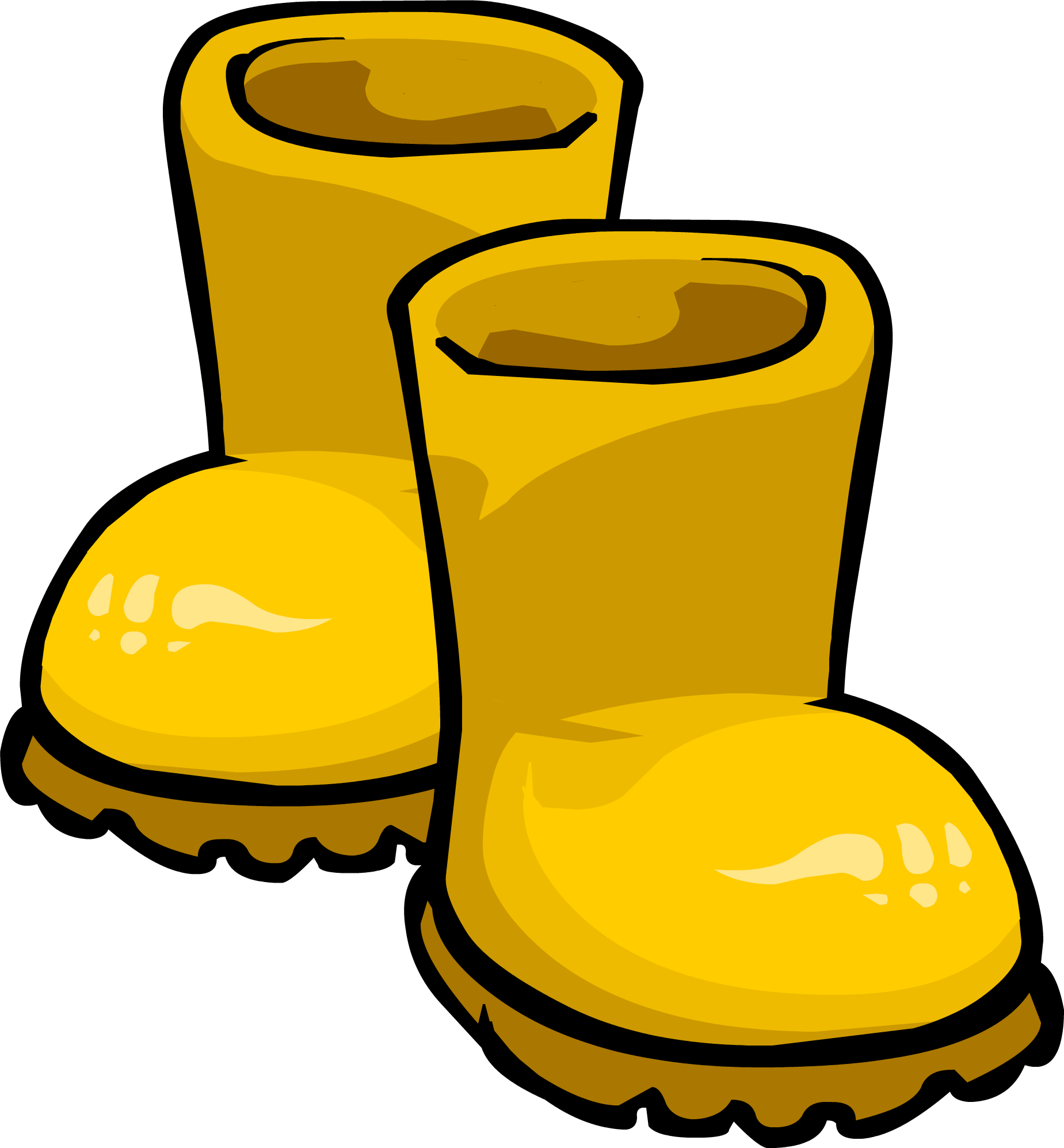 Clipart duck rainy. Yellow rubber boots club