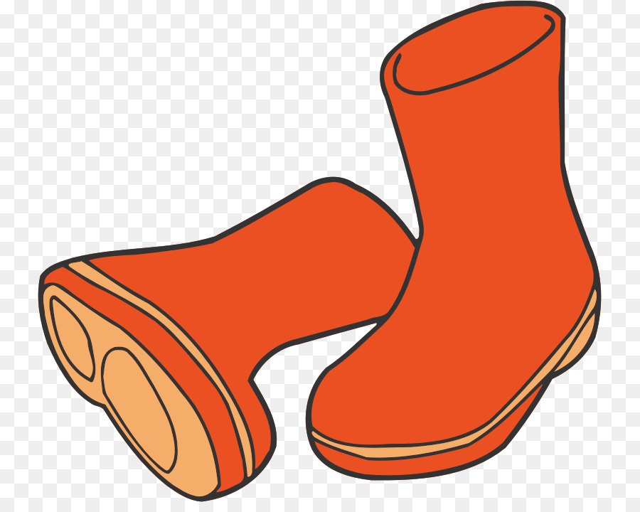 Orange background line product. Boots clipart