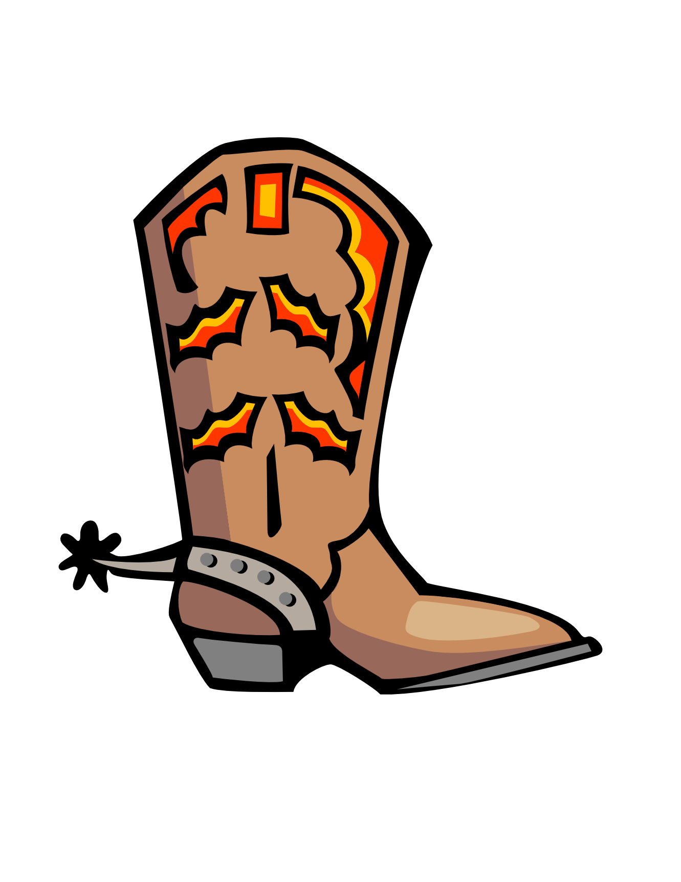 Clipart gun western. Country boots