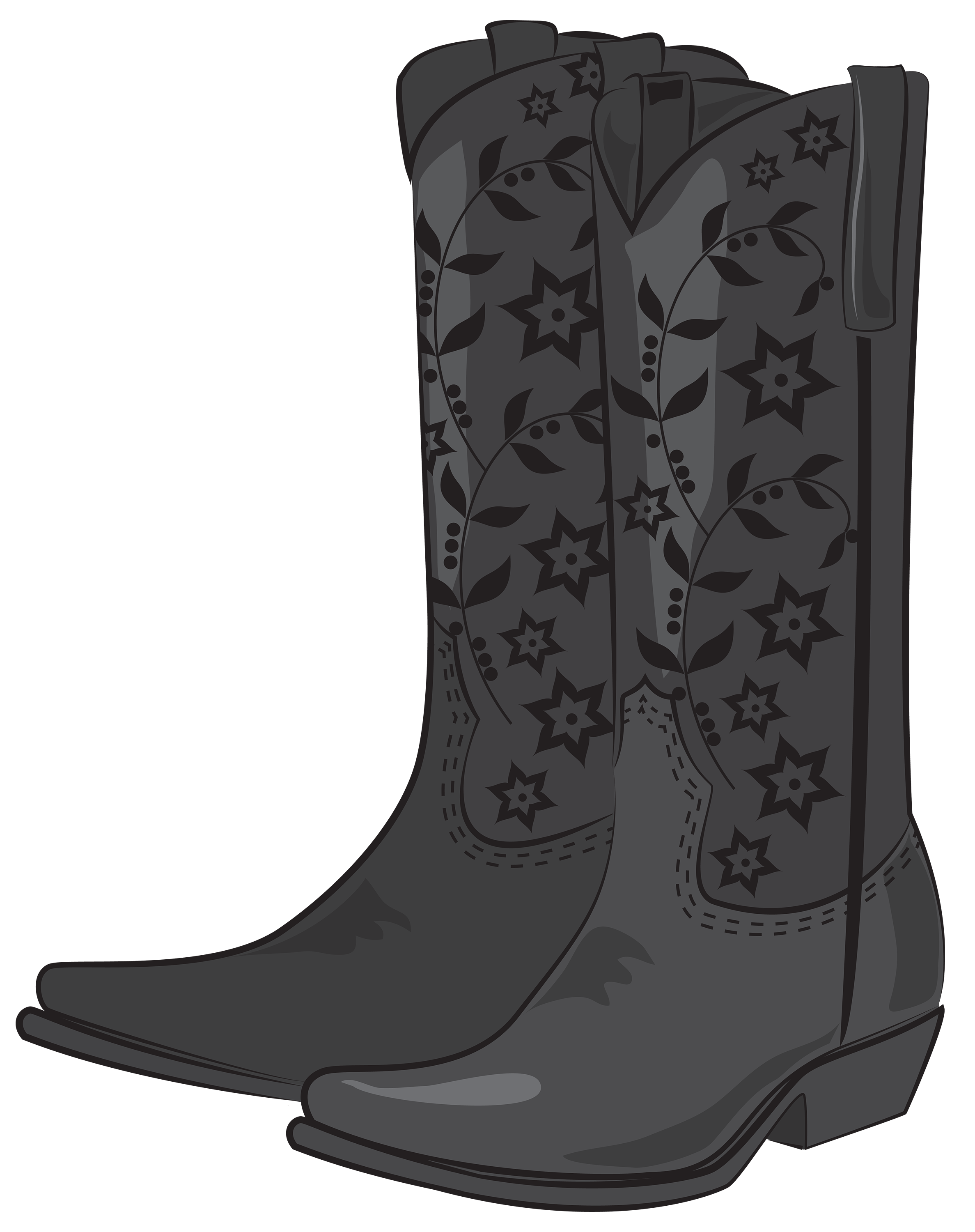 Black cowboy png best. Boots clipart brown boot