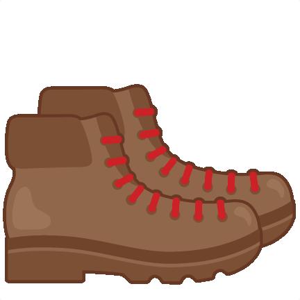 Hiking svg scrapbook cut. Boots clipart camping