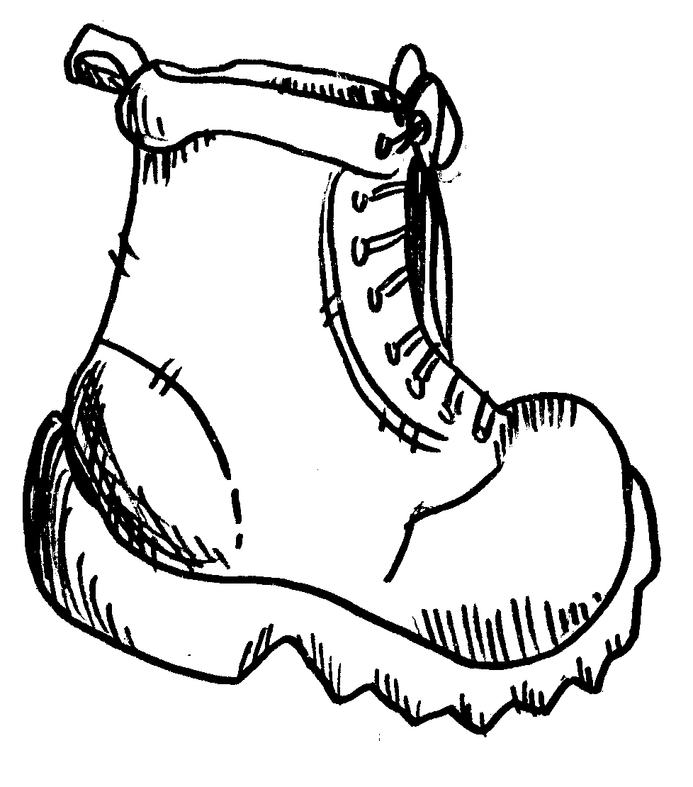Boots clipart camping. Awesome black and white