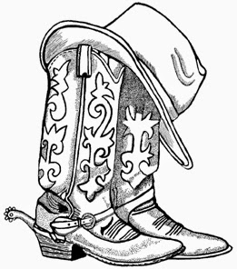 Boots clipart drawing. Cowboy hat and shoe