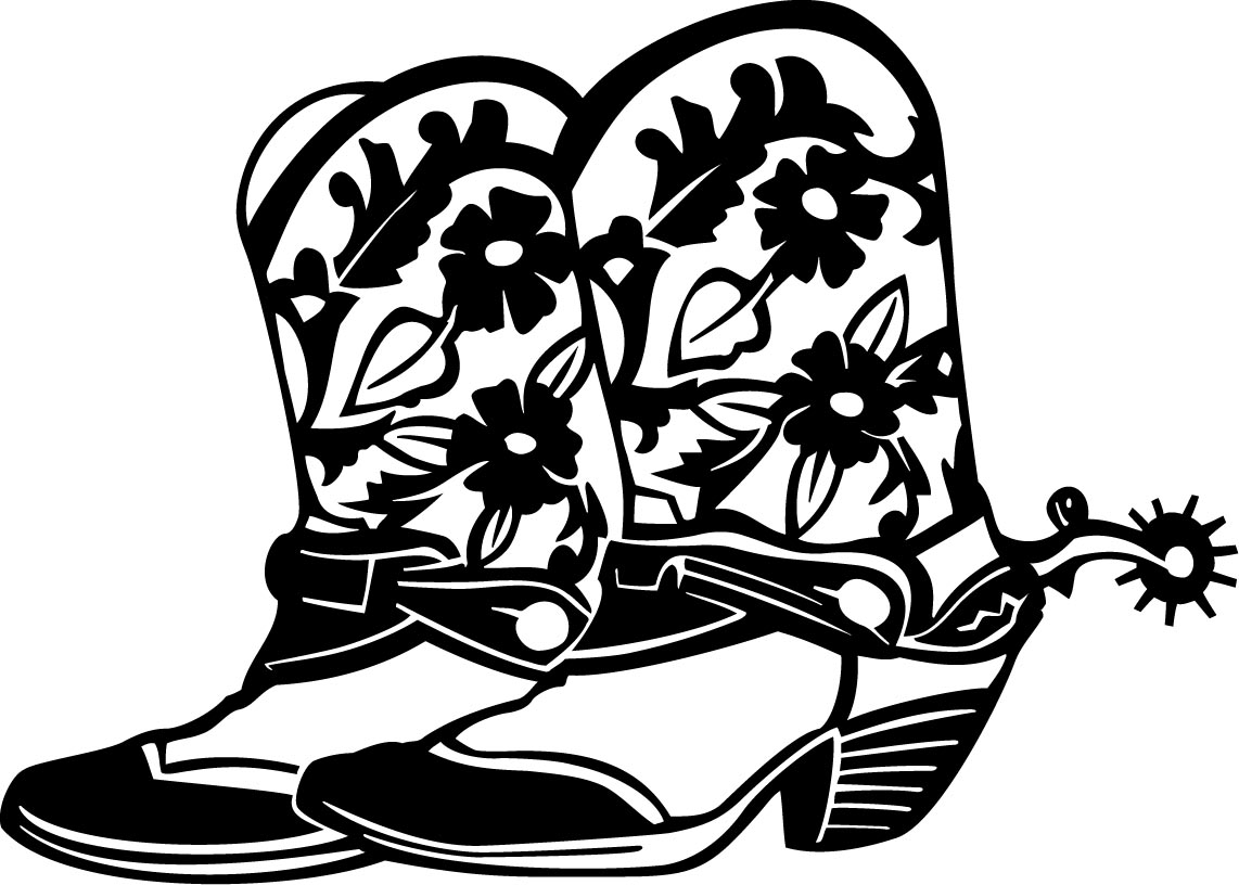 Boots clipart girl boot. Cowgirl silhouette at getdrawings