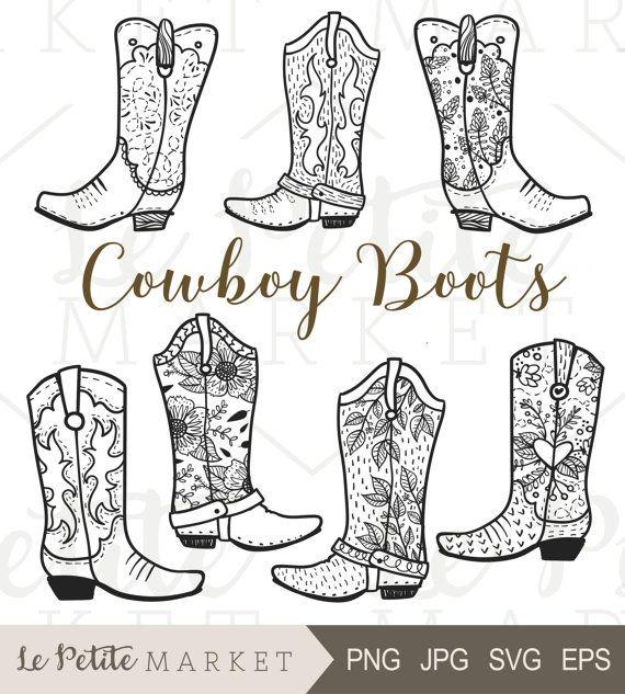 Cowboy clip art hand. Boots clipart girl boot