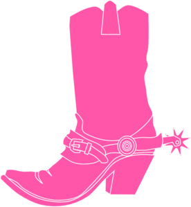 Pink Cowgirl Clip Art