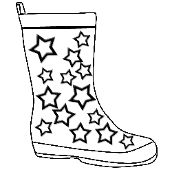 Gumboots templates color pages. Boots clipart gum boot