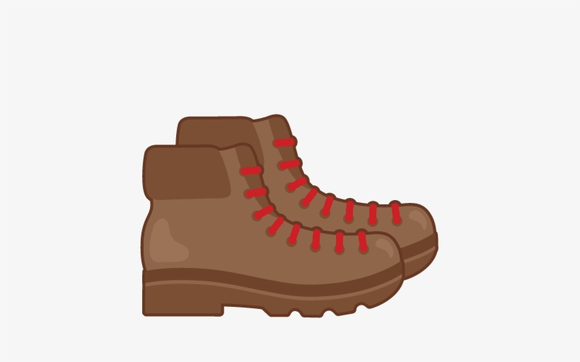 Hike clipart boot. Hiking boots svg scrapbook