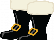 Boots clipart illustration. Santa santas boot stock
