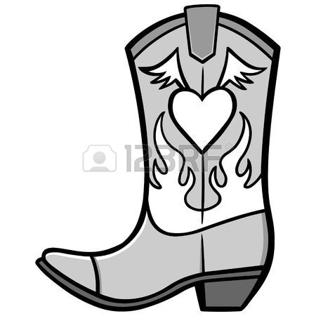 Boots clipart illustration. Cowgirl drawing at getdrawings