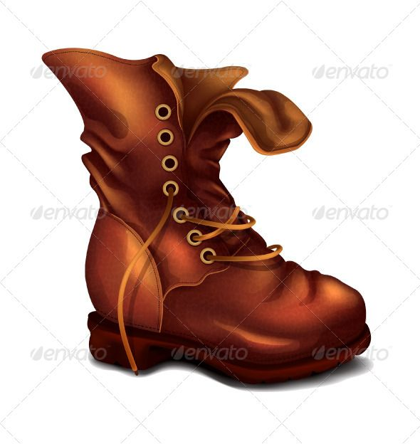 Vector fonts logos icons. Boots clipart old boot