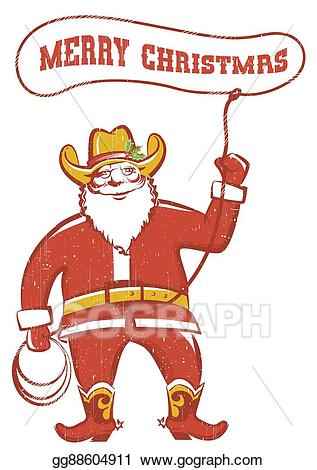 Vector in coywboy twirling. Boots clipart santa claus